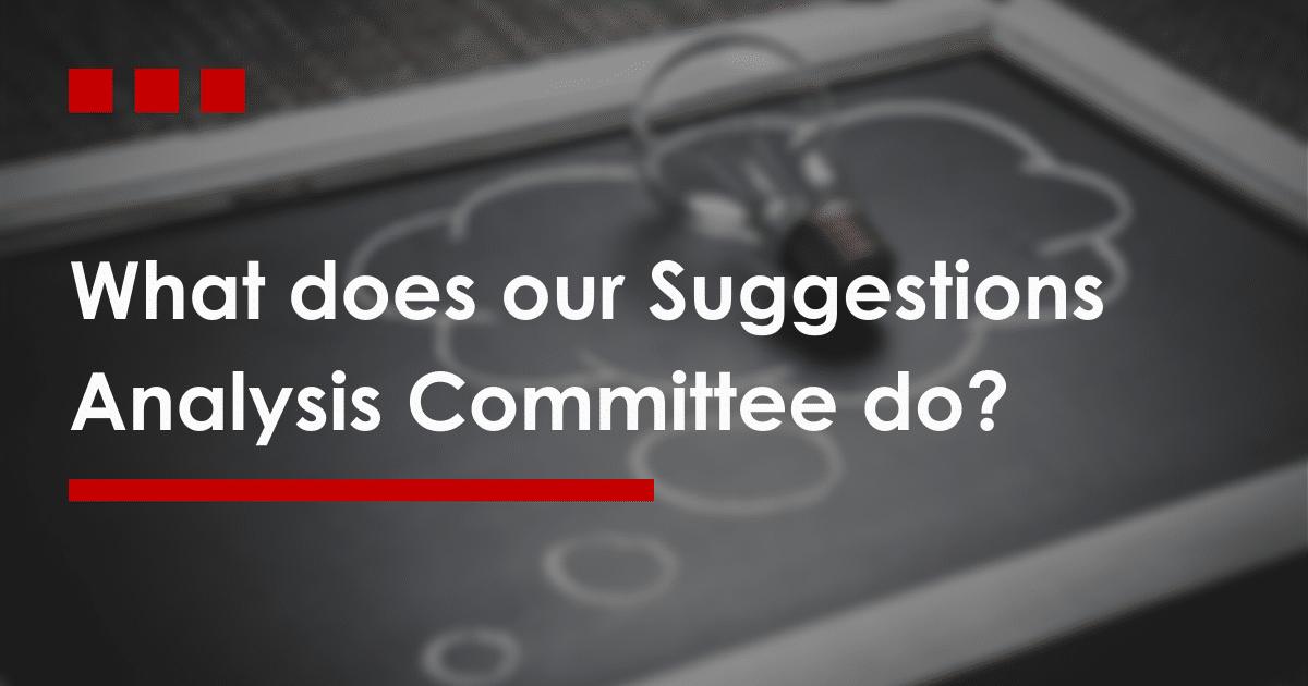 Suggestion Analysis Committee - DataDis