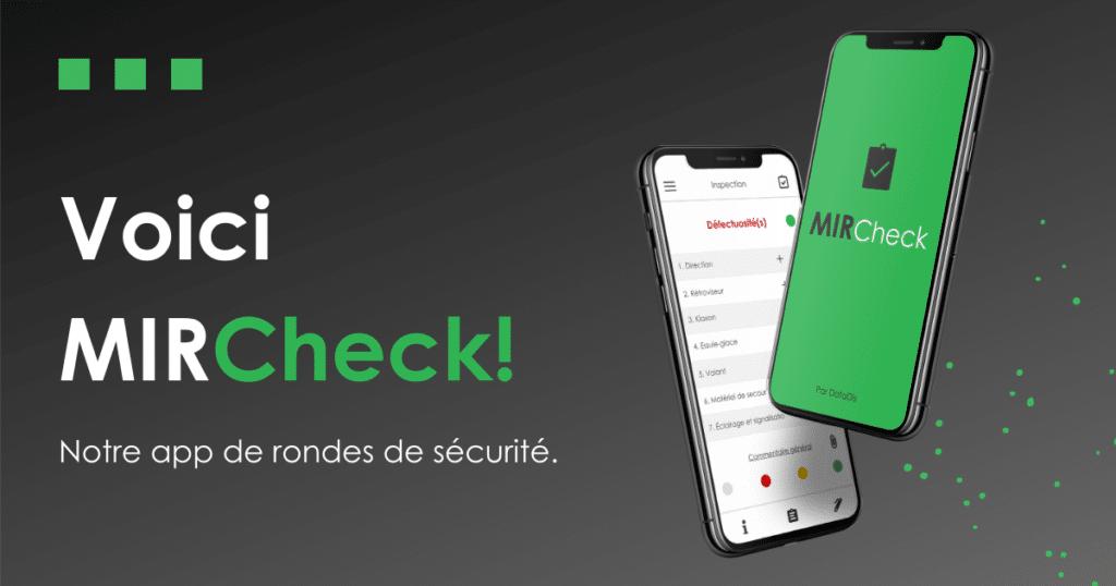 DataDis - Lancement de MIRCheck - Application de ronde de sécurité