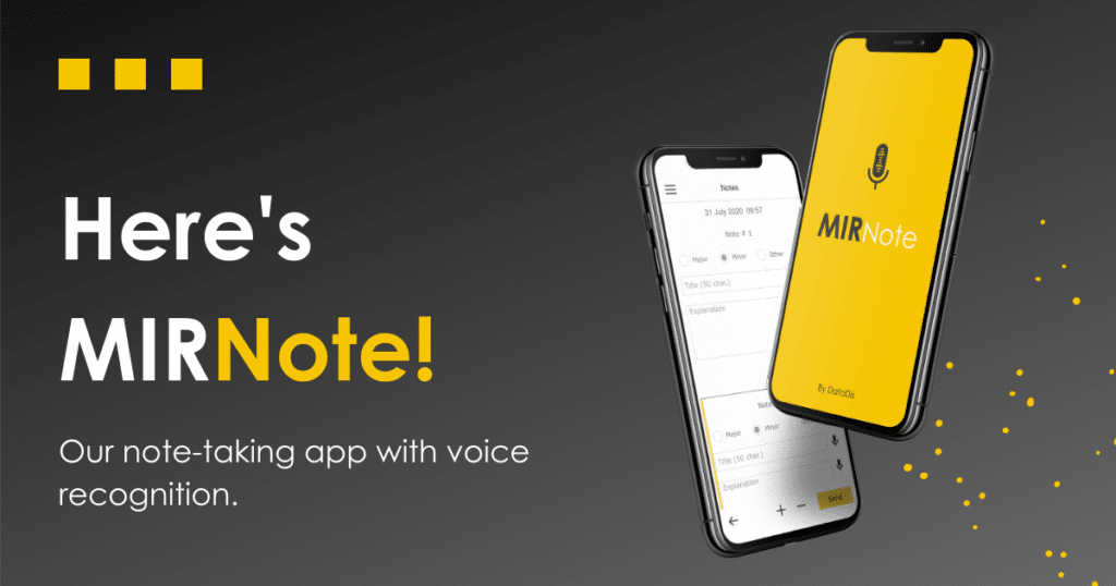 MIRNote launch - Note-taking app with voice recognition