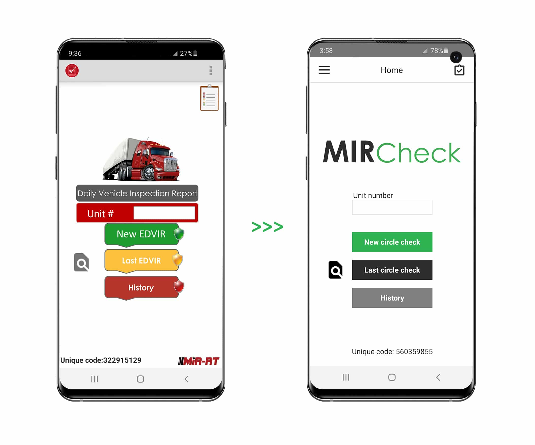 MIRCheck - Before and After - Home page