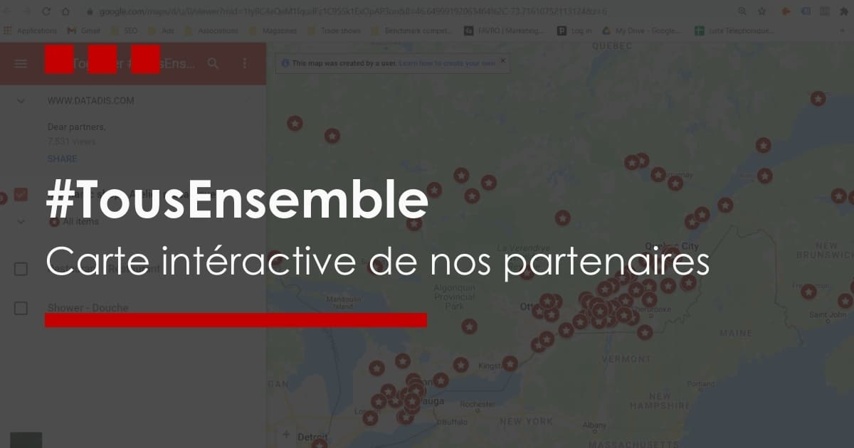 Tous ensemble carte interactive
